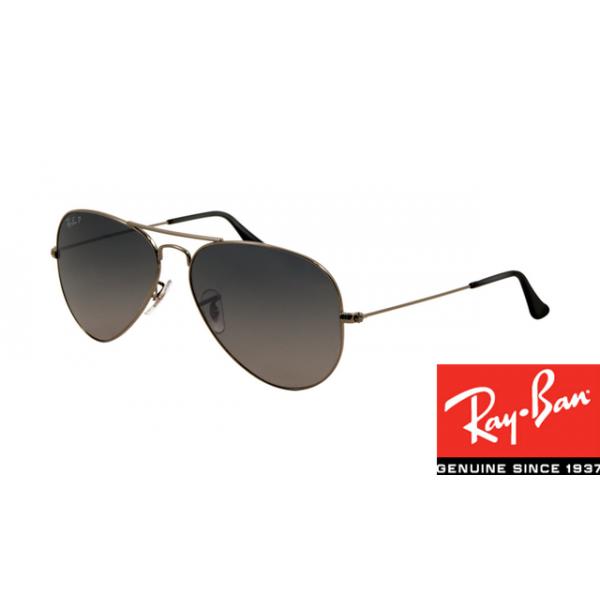 529e0ef710 Replica Ray-Ban RB3025 Aviator Sunglasses Gunmetal Frame Polar Blue ...