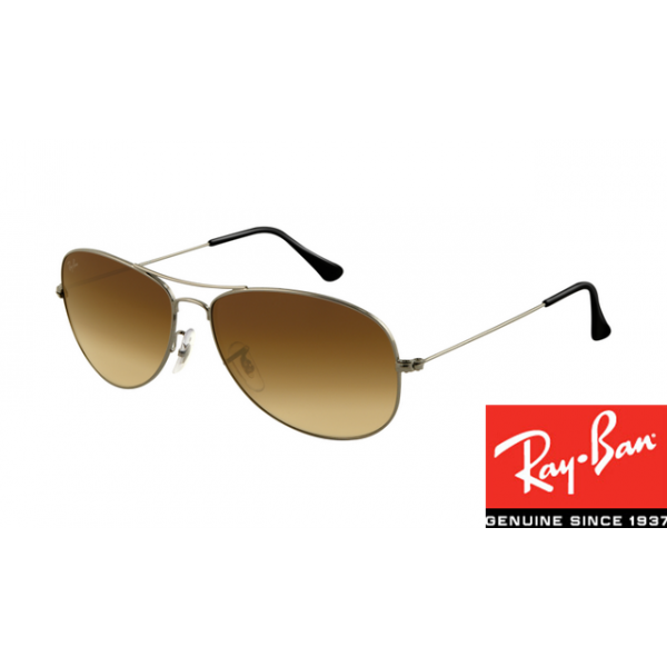cd1a04e93c65c Fake Ray-Ban RB3362 Cockpit Sunglasses Gunmetal Frame Brown Gradient ...