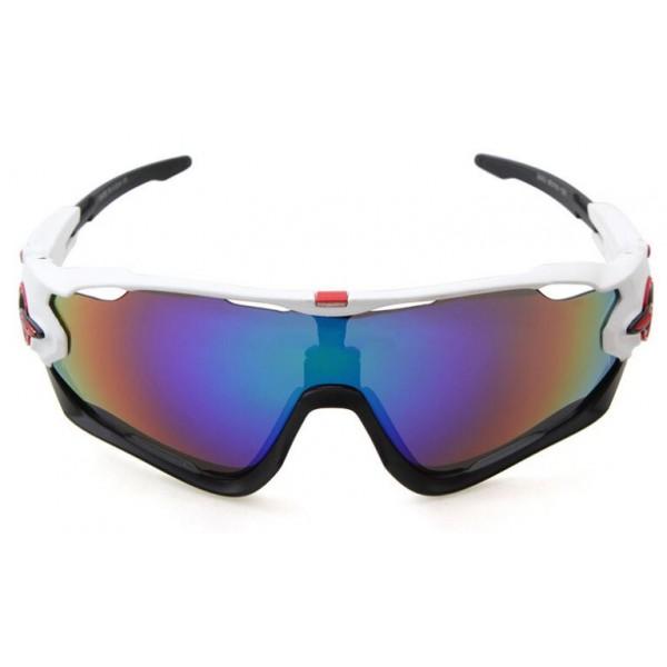 5b657f143da Cheap Fake Oakley Jawbreaker Sunglasses White Black Frame Sapphire ...