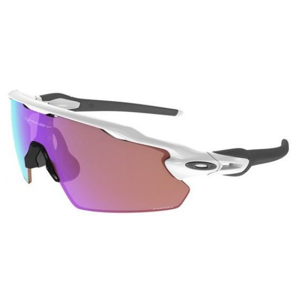 762b2b193e9e6 Fake Oakley Sunglasses Radar EV Pitch Prizm White Black Frame Purple ...
