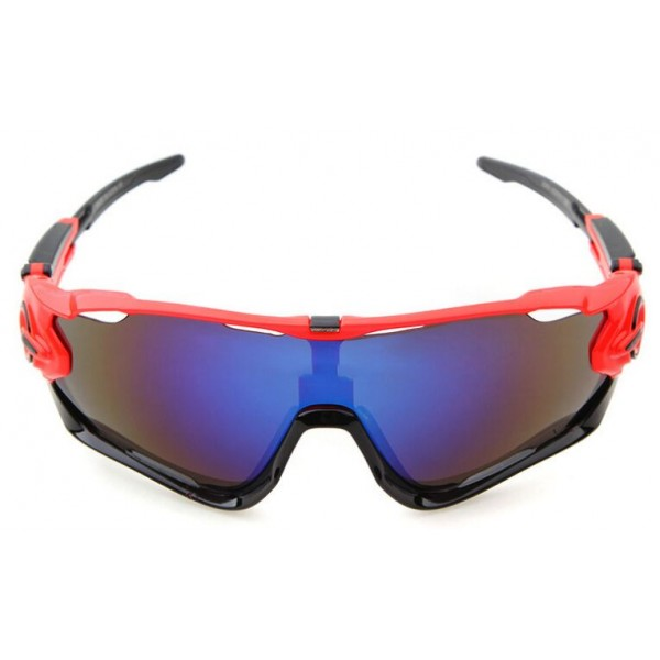 64c321183f2 Knockoff Oakley Jawbreaker Sunglasses Red Black Frame Sapphire ...