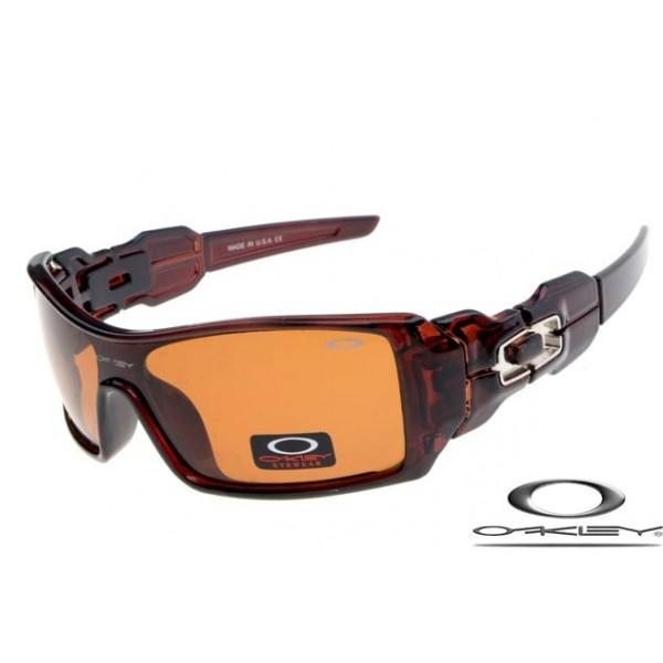 beab893f838 Wholesale Fake Oakley Oil Rig Sunglasses Brown Frame Brown Lens Free ...