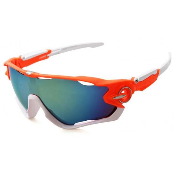 2a8bab8829 Wholesale Replica Oakley Jawbreaker Sunglasses Orange White Frame Ice Blue  Iridium Lens