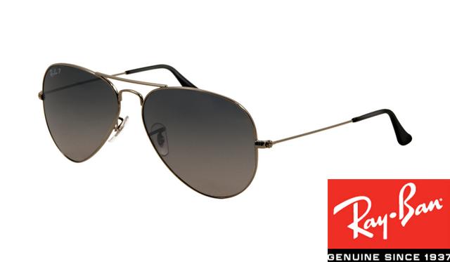 73031a02bf8 Replica Ray-Ban RB3025 Aviator Sunglasses Gunmetal Frame Polar Blue  Gradient Gray Lens For Sale