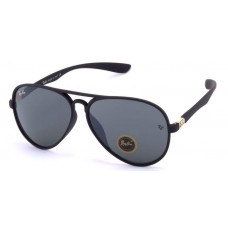 6d7f8822811 Ray-Ban RB4180 Aviator Sunglasses Black Frame Mirr.